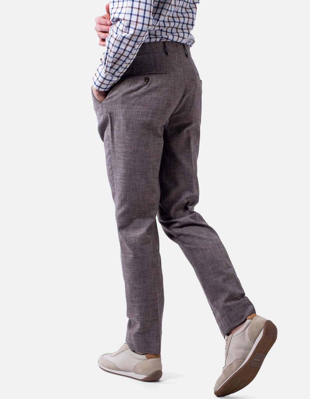 French pocket brown trousers - Backside