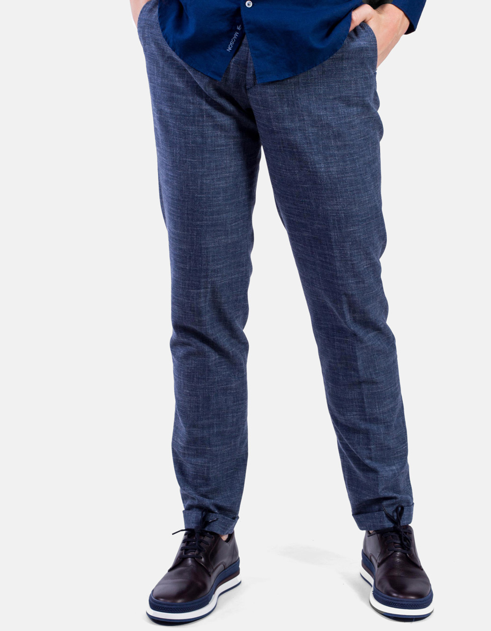 French pocket blue trousers