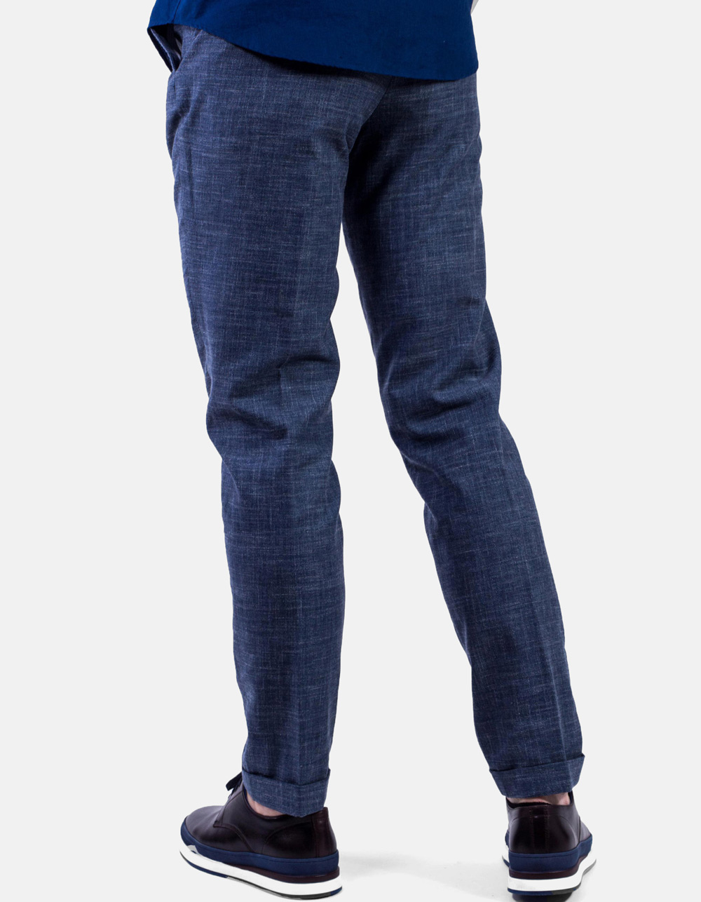 French pocket blue trousers - Backside