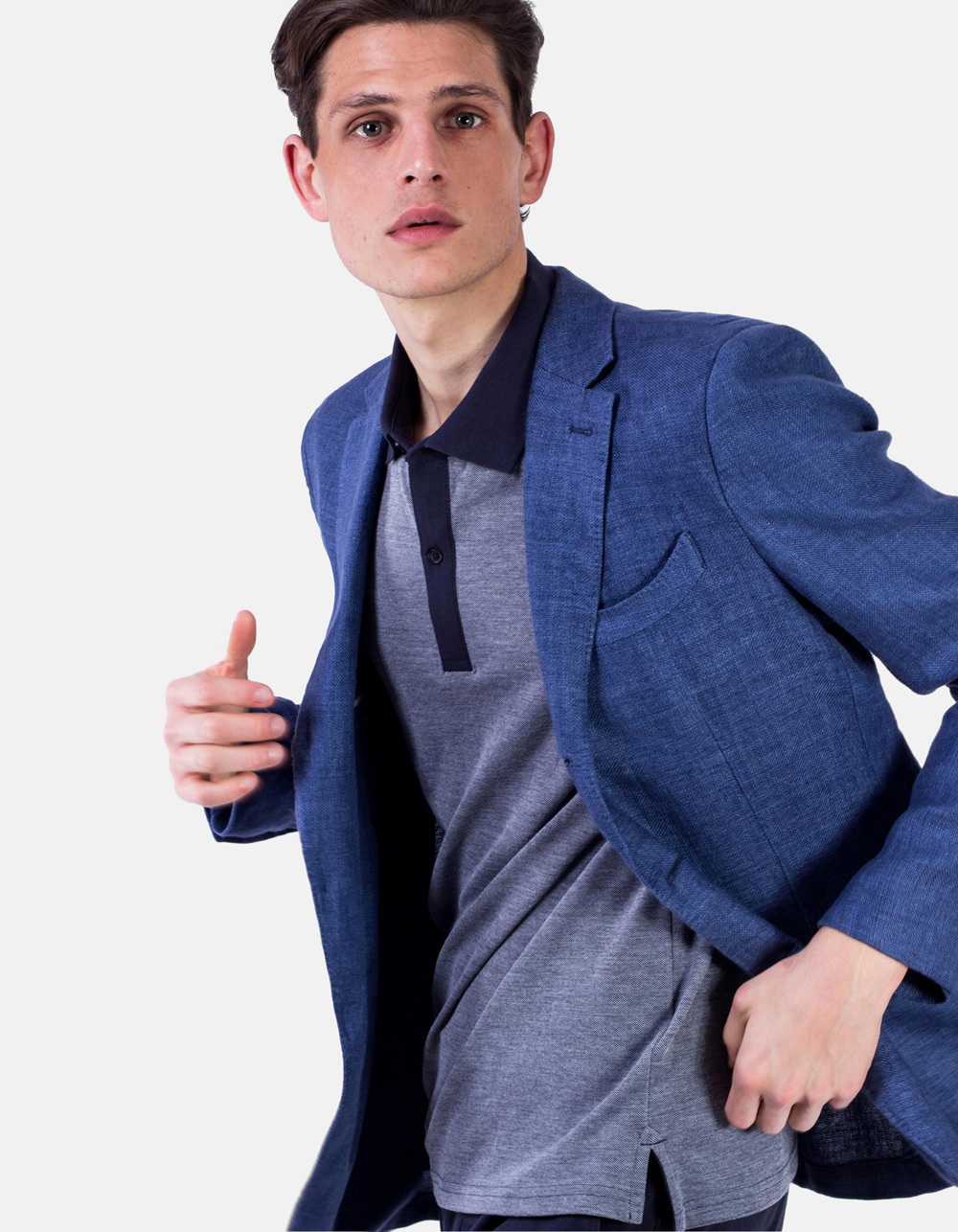 Blue Plain blazer