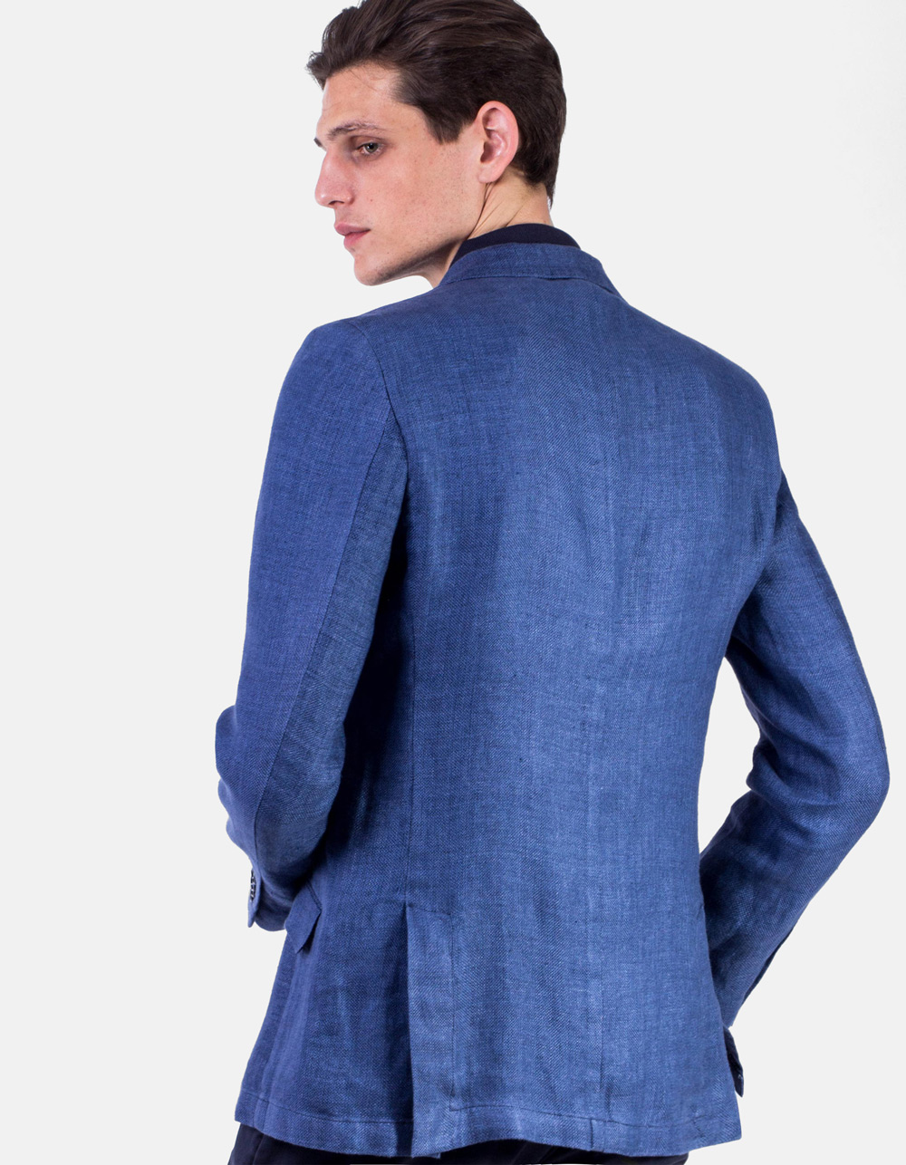 Blue Plain blazer - Backside