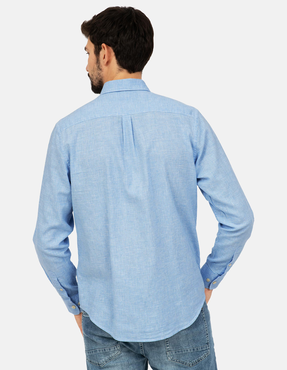Blue structure shirt - Backside