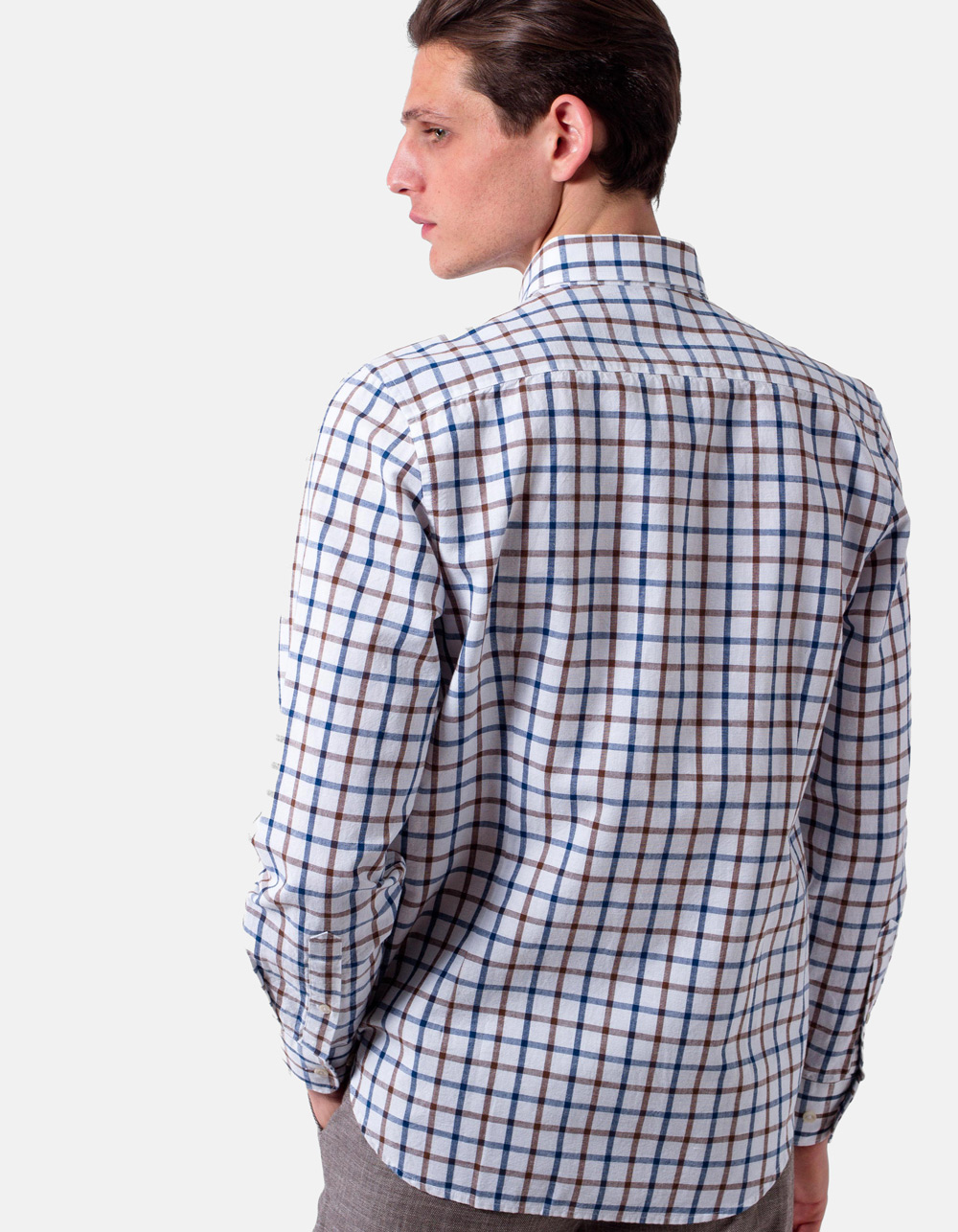 plaid shirt - Backside