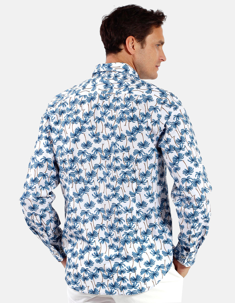 Palm Printed Shirt  - Backside