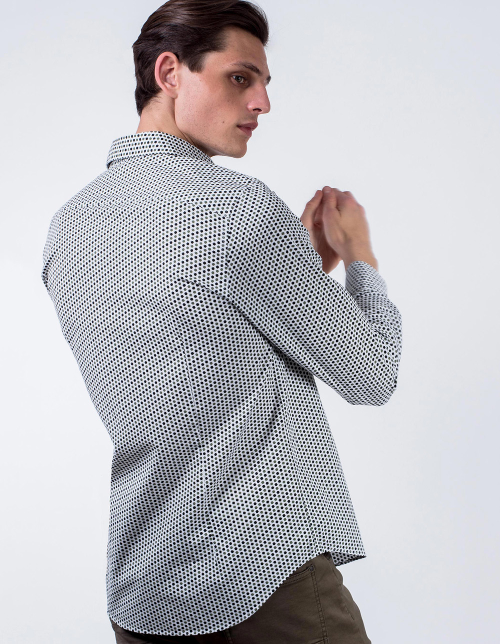 Geometric printed shirt  - Backside