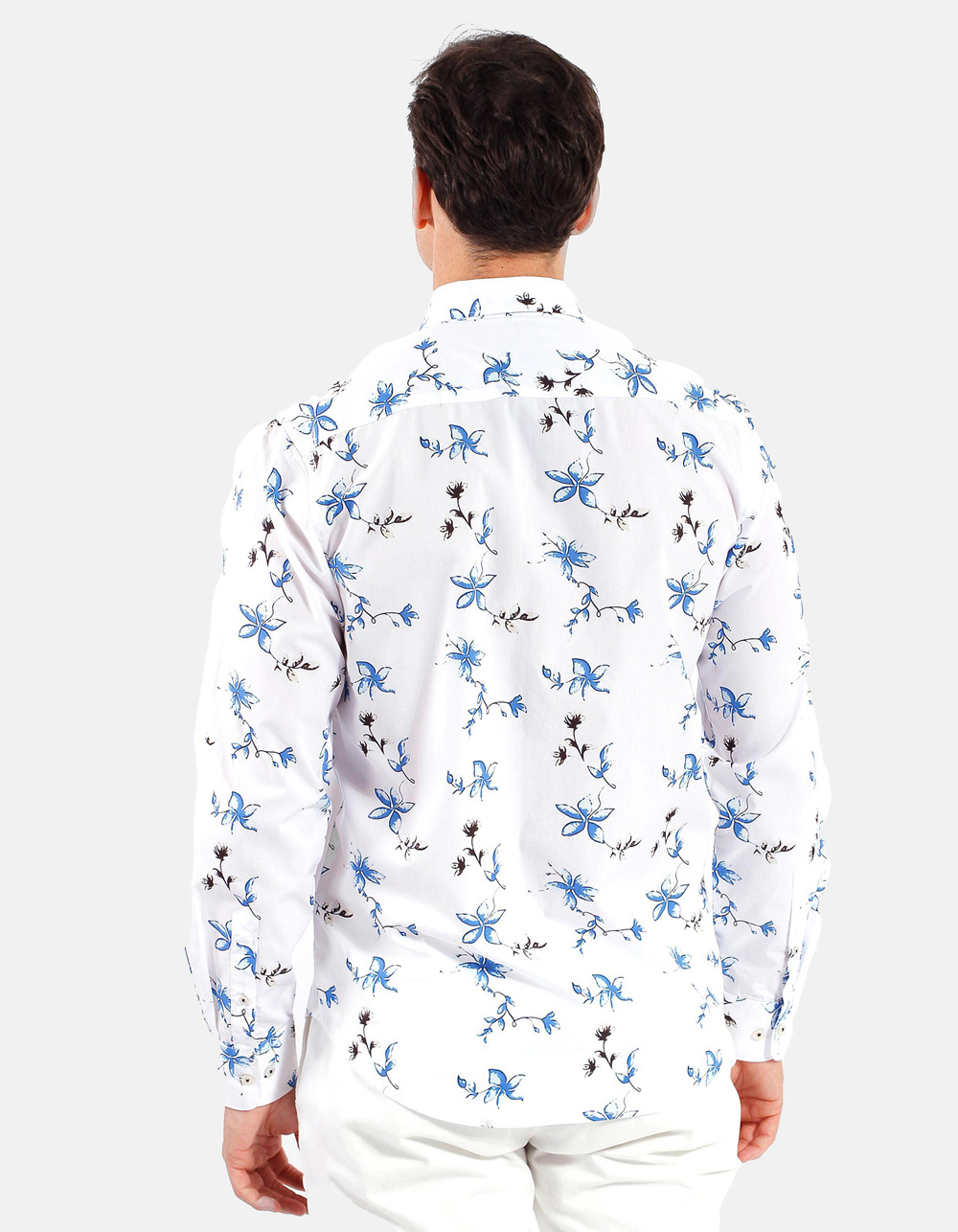 Spring flowers printed shirt  - Backside