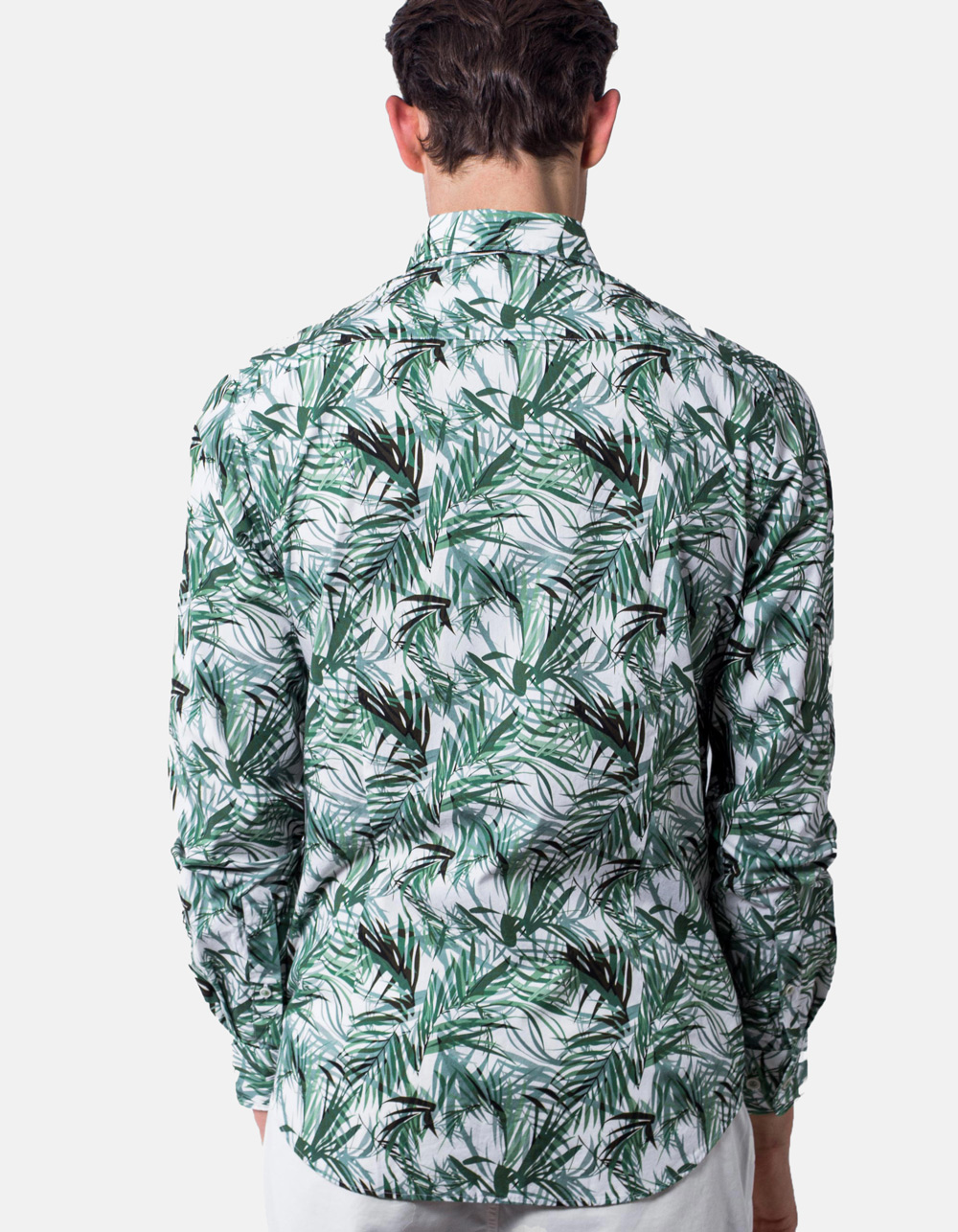 Leaves print Shirt  - Backside