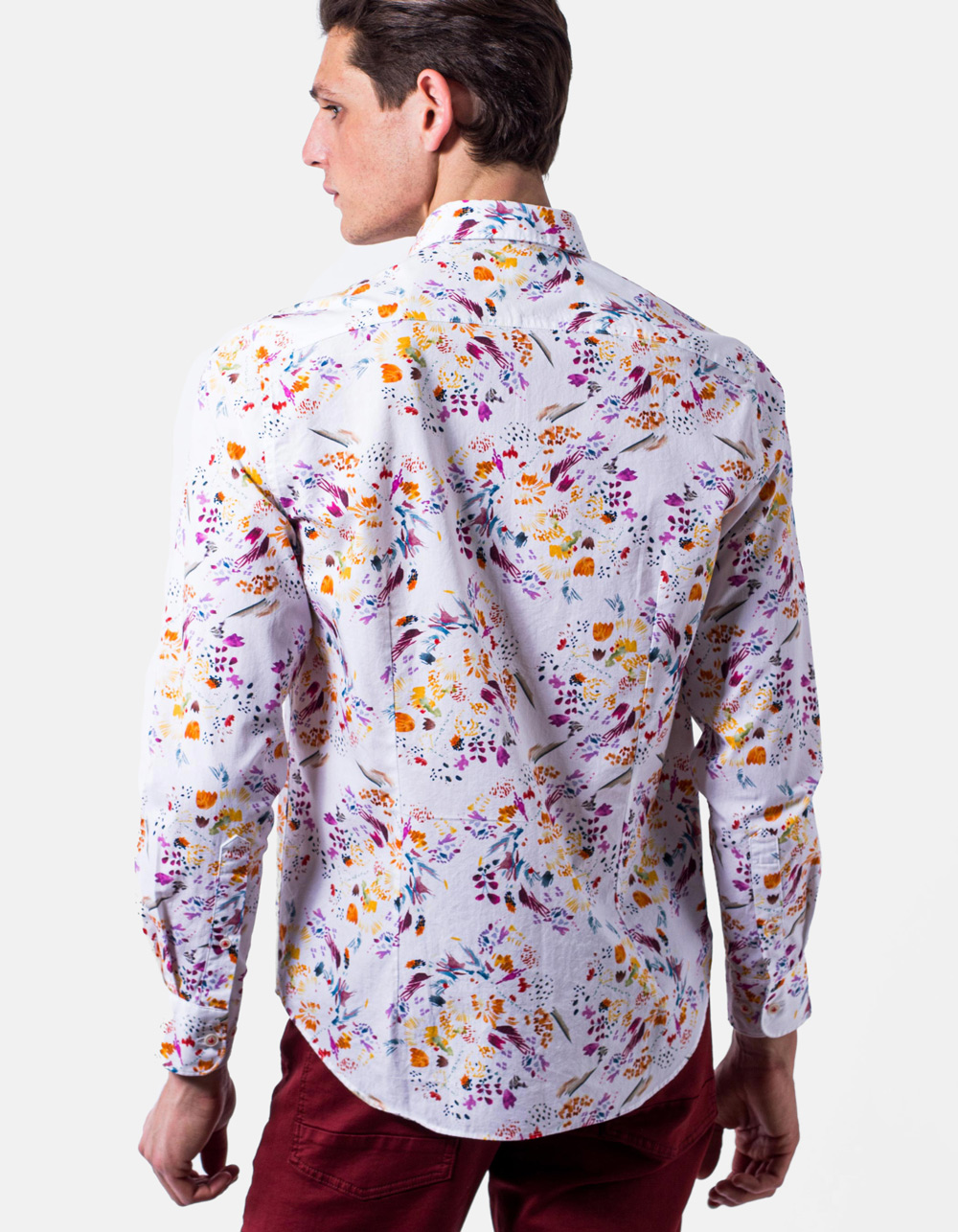 Floral print shirt - Backside