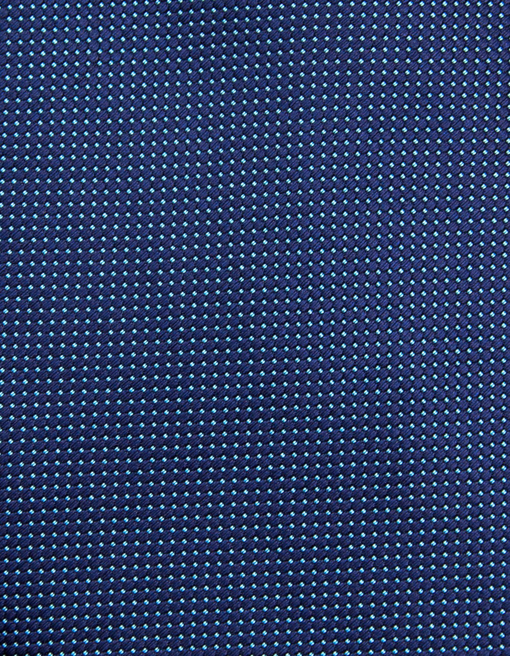 Blue tie with micro polka dots - Backside