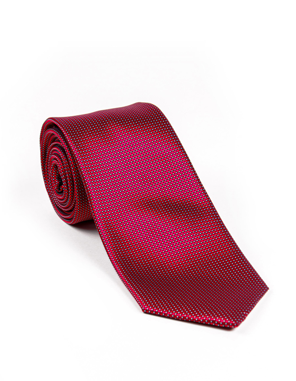 Red structure tie