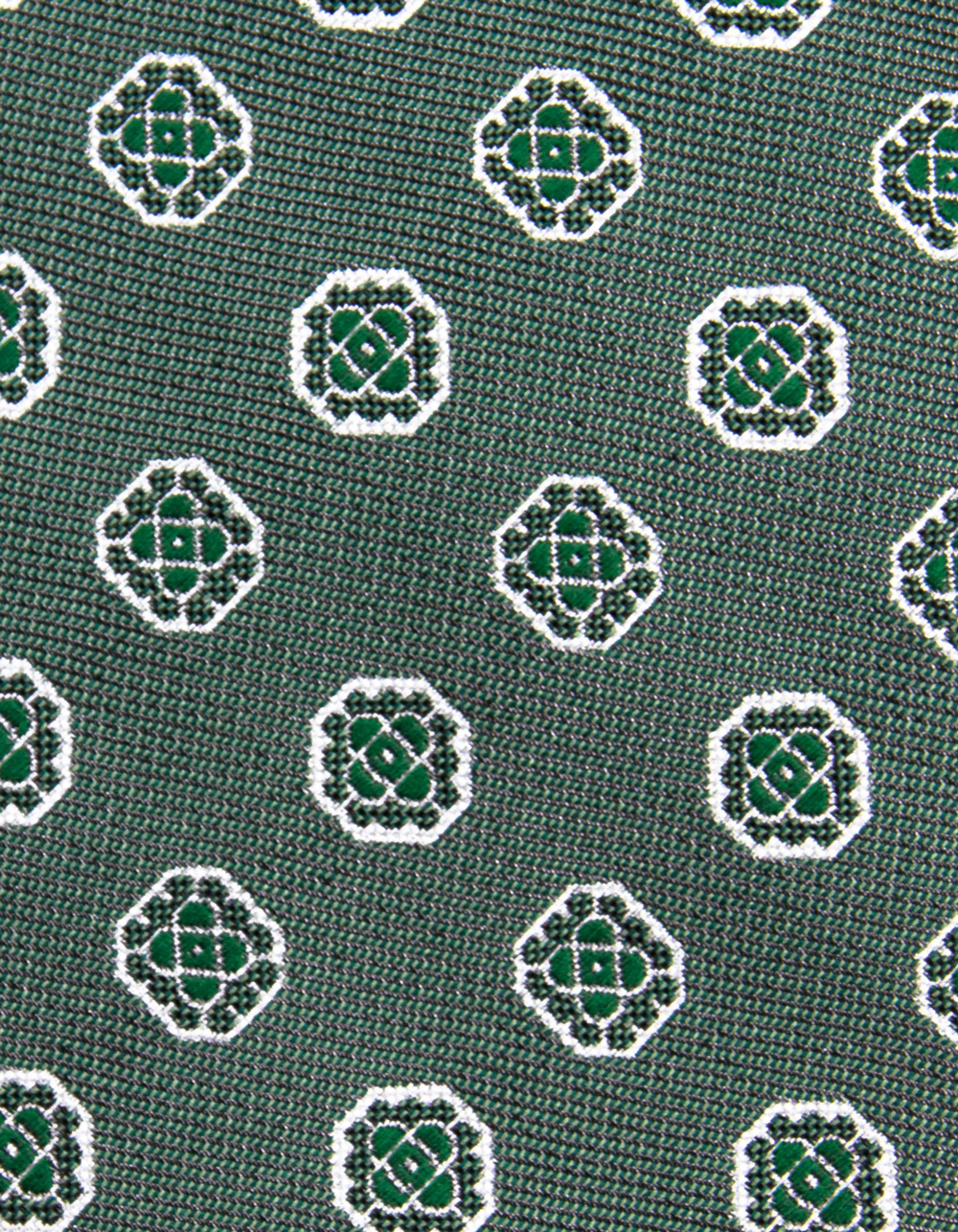 Green and white fantasy tie - Backside