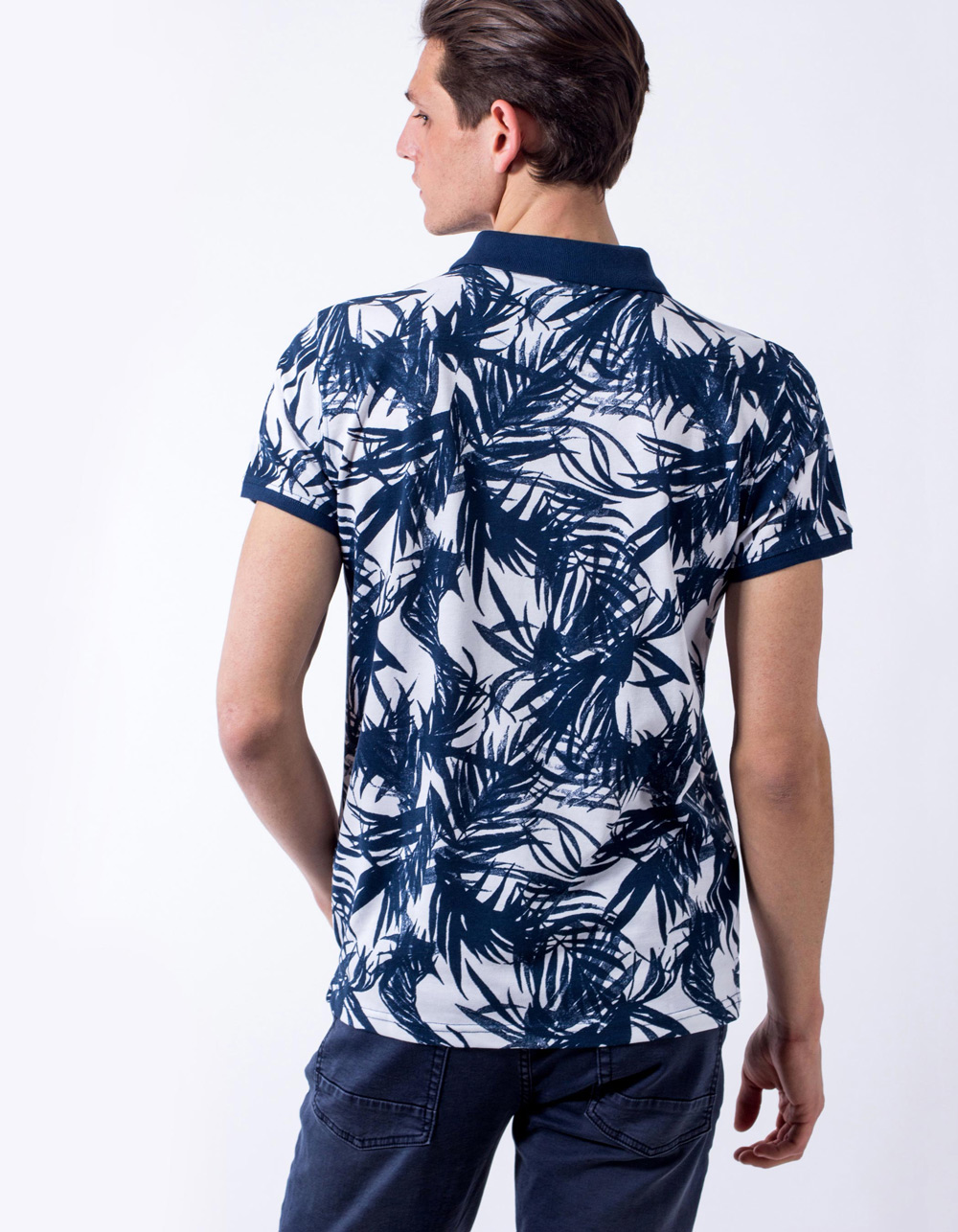 Polo pique tropical print - Backside