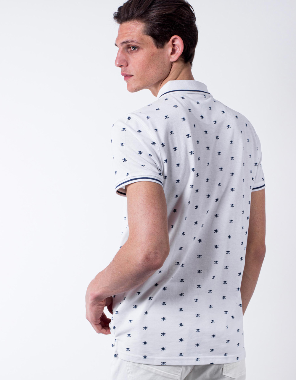 Polo pique skull print - Backside