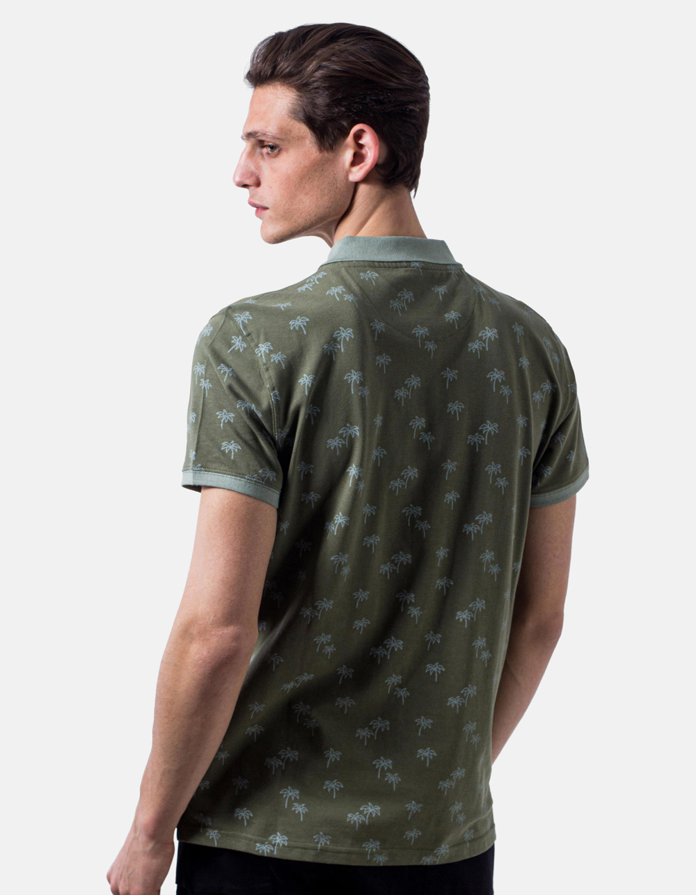 Polo pique palm print - Backside