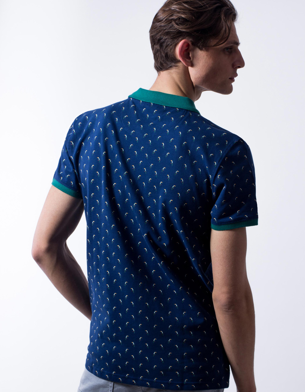 Polo pique toucan print - Backside