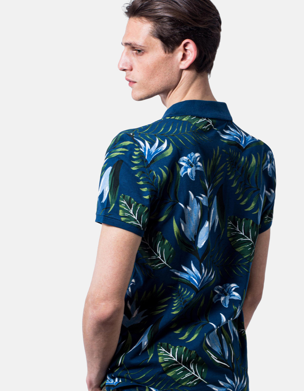 Polo piqué print wild - Backside