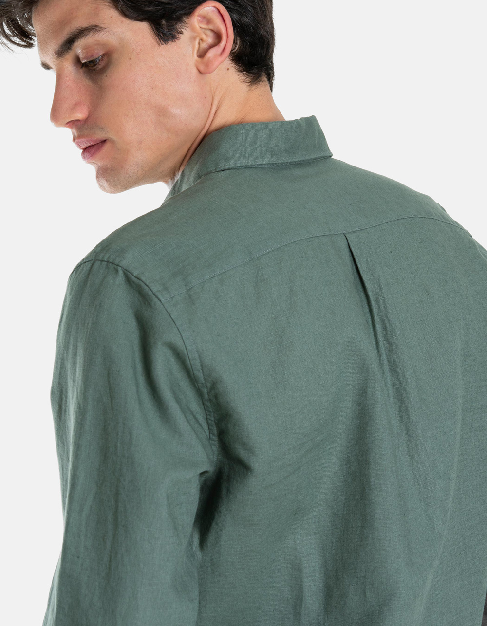 Linen cotton Shirt  - Backside
