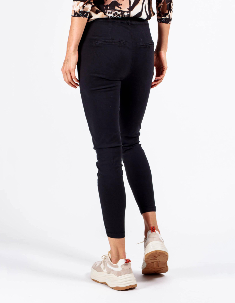 Pantalón tejanero negro mid rise skinny fit - Backside
