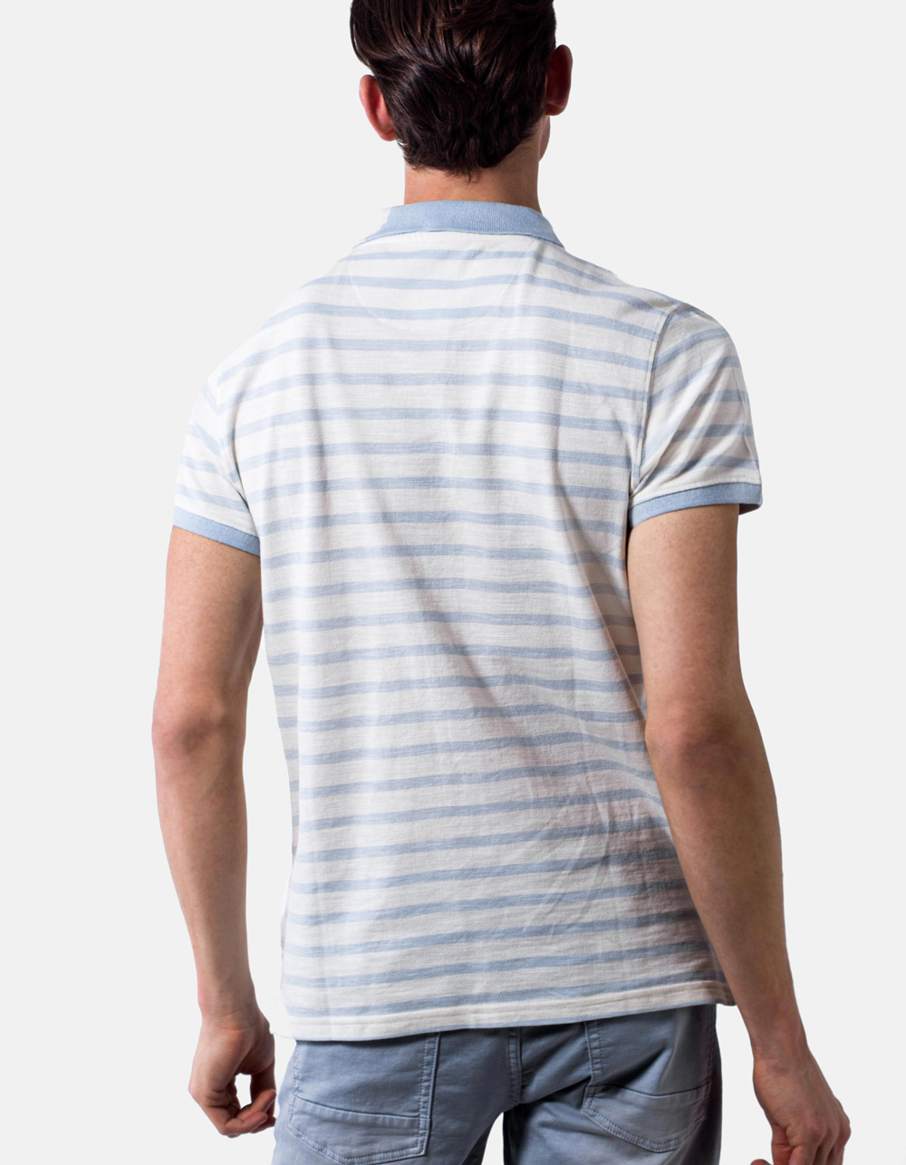 Striped polo pique - Backside