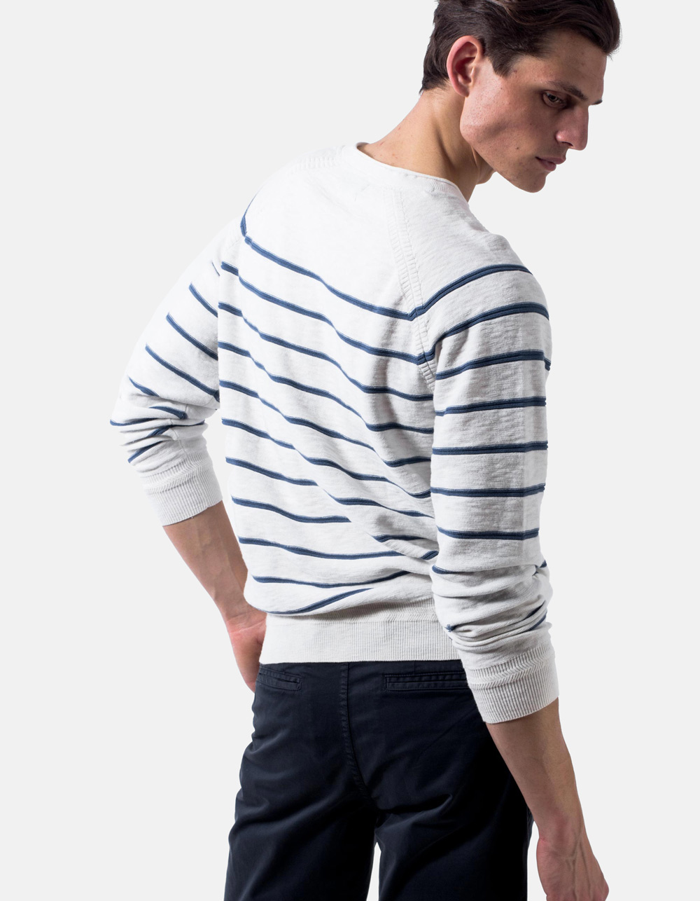 Jersey cuello redondo slub cotton - Backside