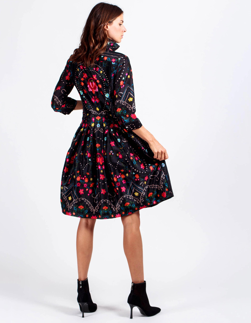 Vestido camisero flores - Backside