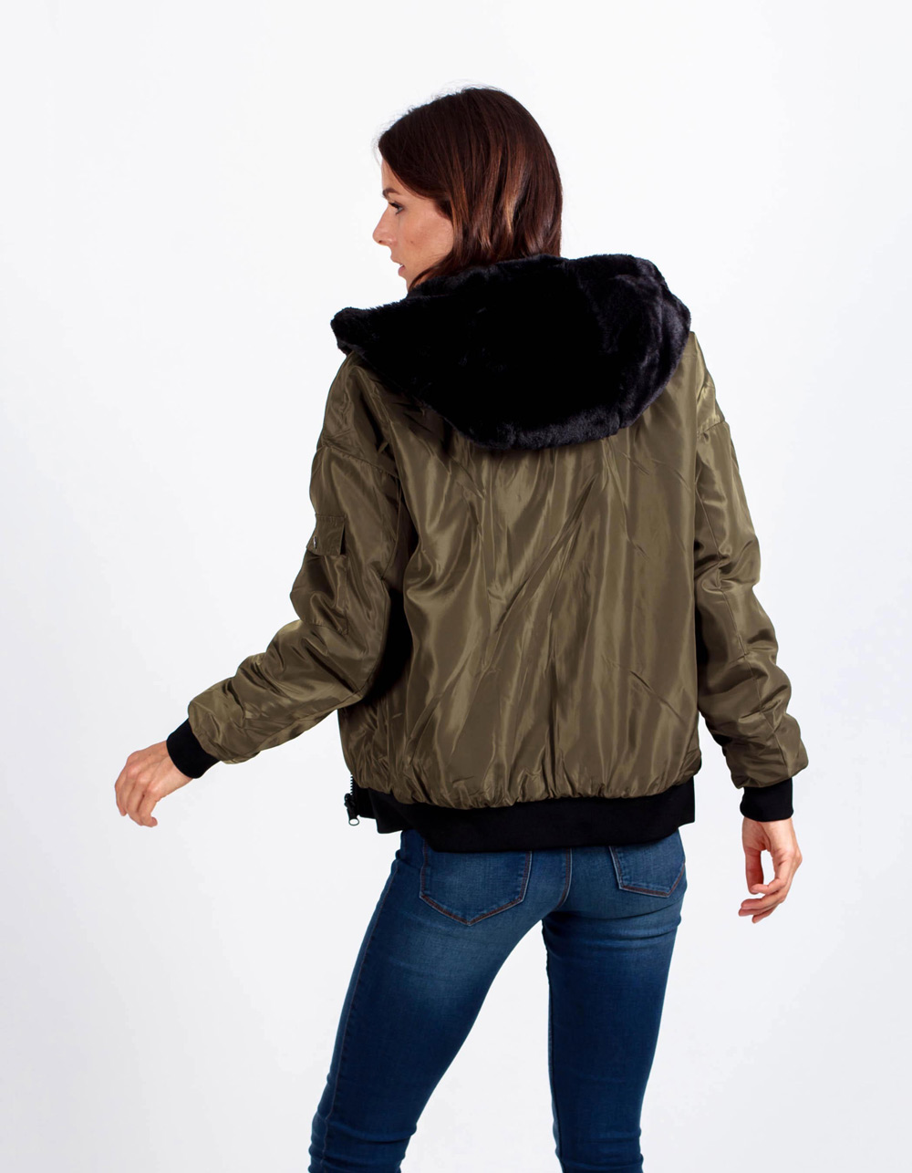 Chaqueta bomber reversible - Backside
