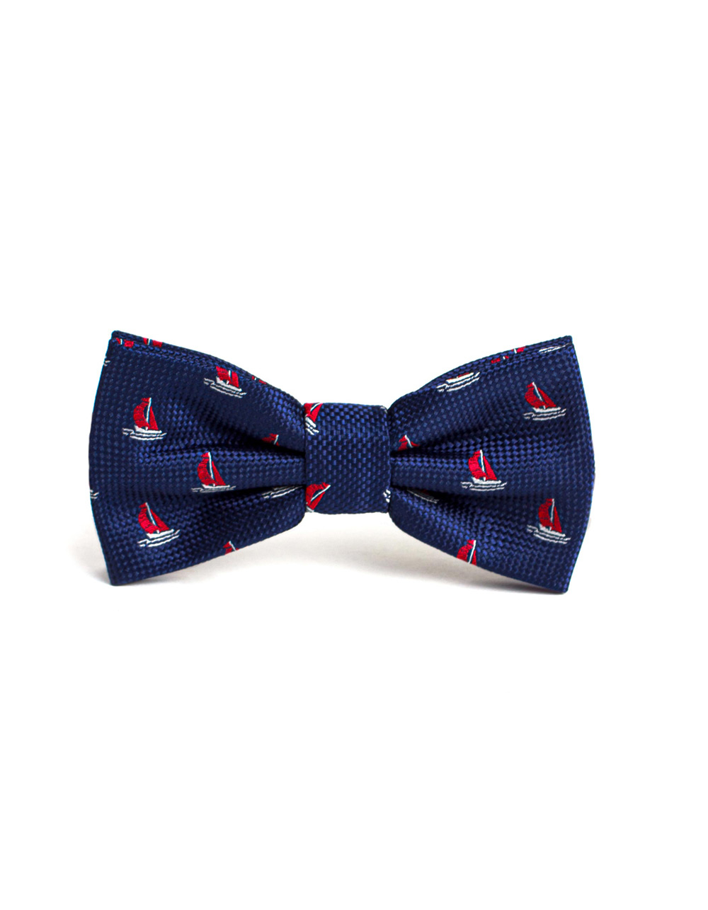 Marine tie with a sailboat print