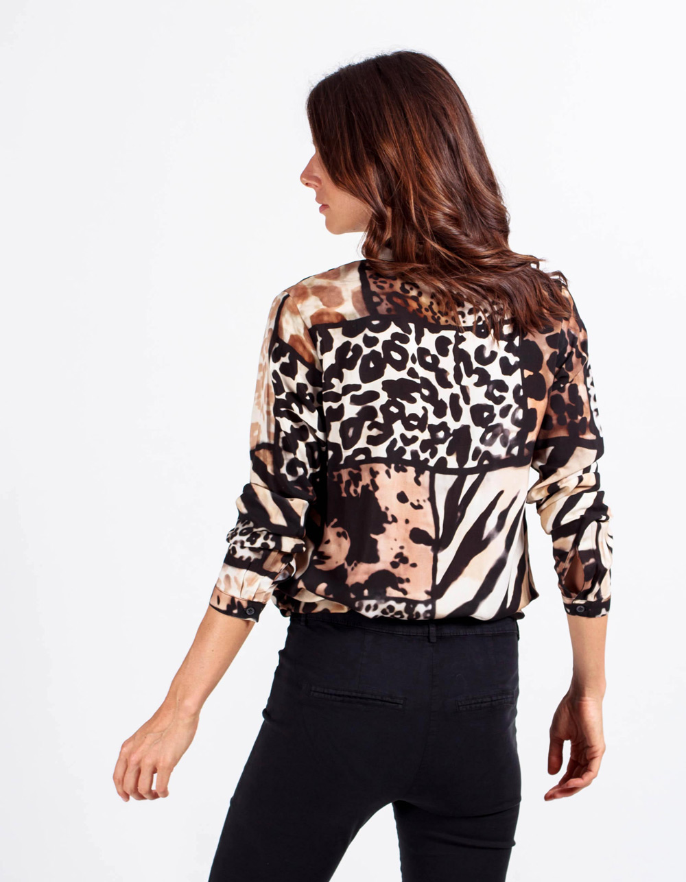 Camisa estampado animal print - Backside