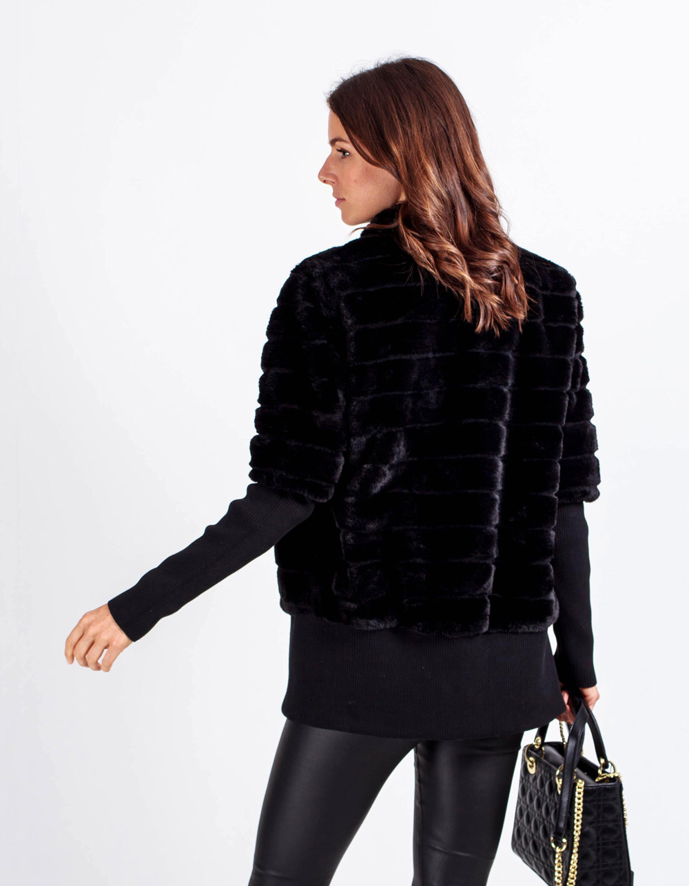 Chaqueta tipo mouton - Backside