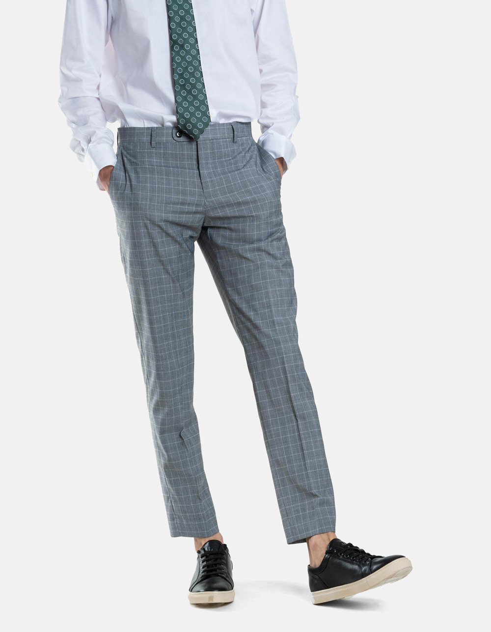 Black White  Plaid Gales Trousers