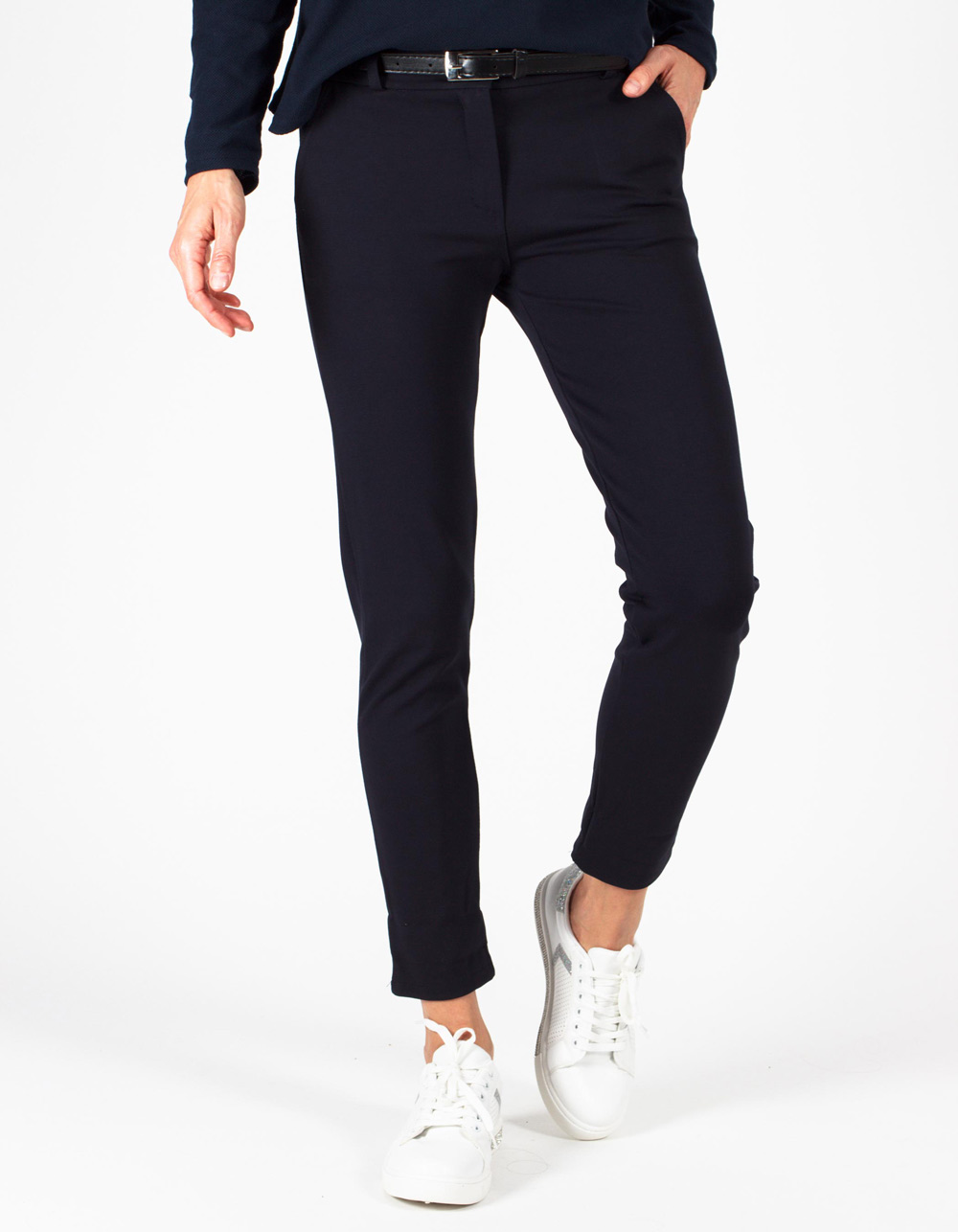 Pantalón marino stretch straight fit