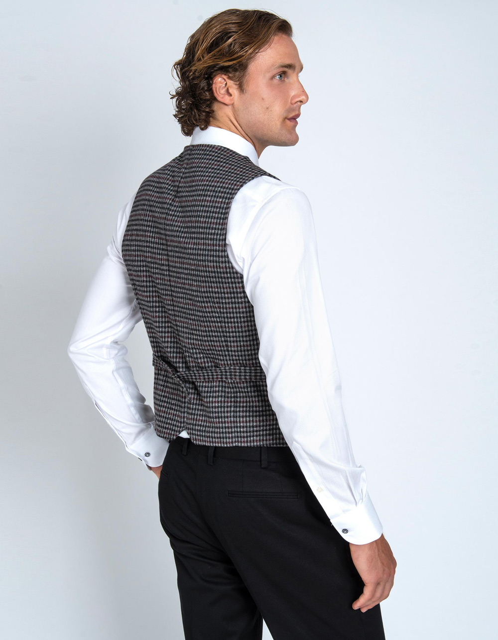 Check vest  - Backside