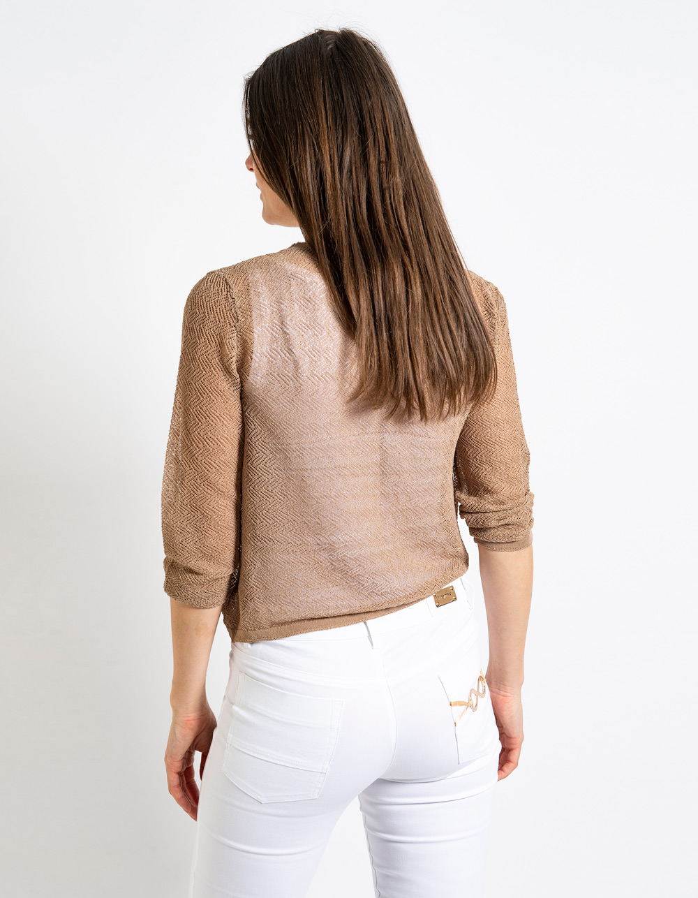Cardigan cuello pico cruzado - Backside