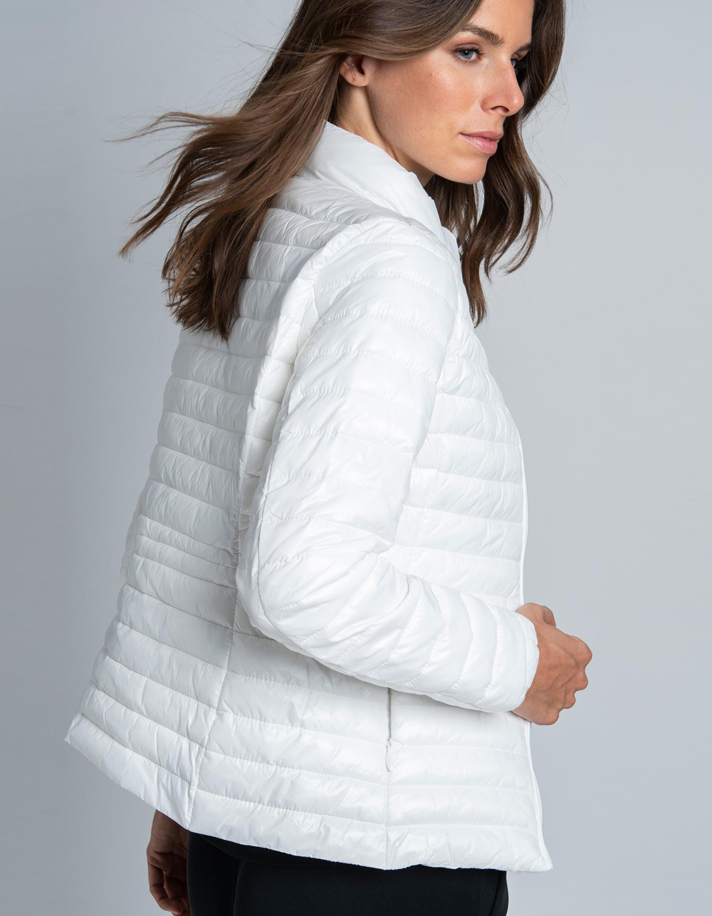 Chaqueta acolchada blanca - Backside
