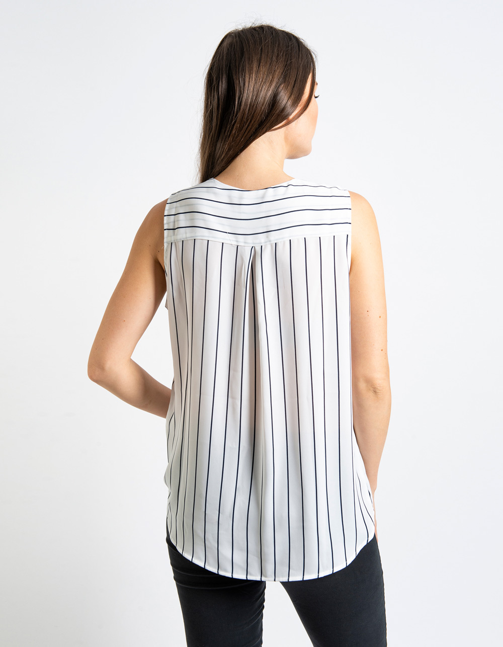 Blusa rayas sin mangas - Backside